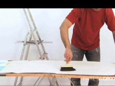 Peint recherche de cours conseils trucs et astuces gratuits en video sur - Poser un papier peint ...